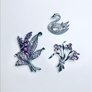 Set of 3 Brooches